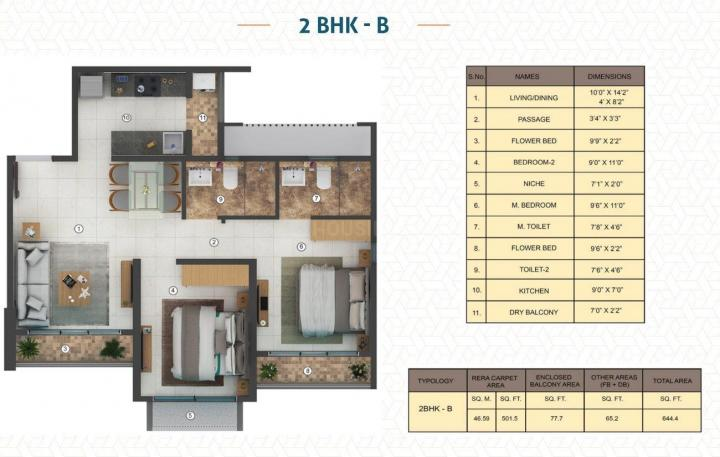 Project Image of 439.0 - 645.0 Sq.ft 1 BHK Apartment for buy in Shapoorji Pallonji Joyville Virar Phase 3