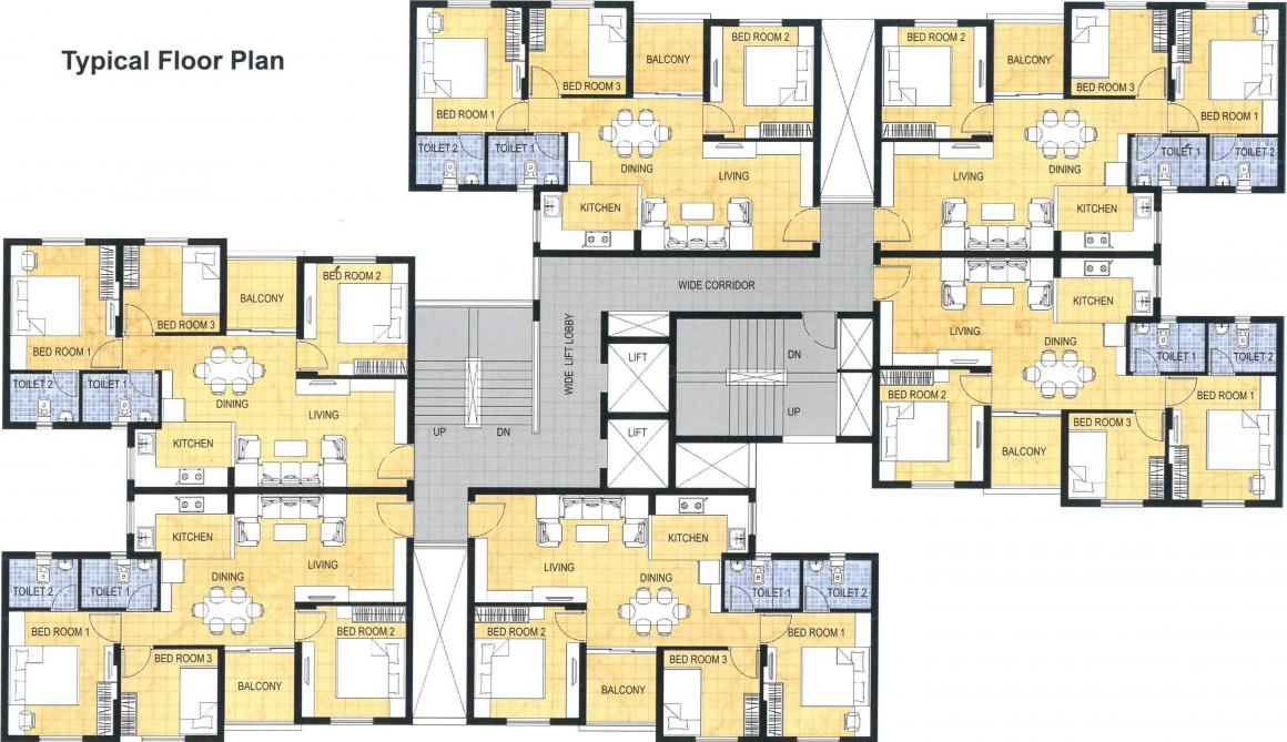 Project Image of 0 - 970.0 Sq.ft 3 BHK Apartment for buy in Shapoorji Pallonji Shukhobrishti Spriha Phase 9