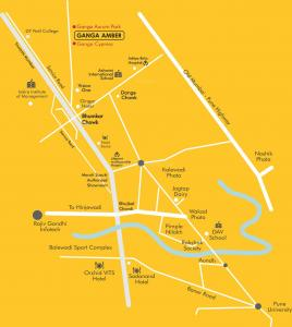 Project Image of 497.29 - 688.24 Sq.ft 2 BHK Apartment for buy in Goel Ganga Ganga Amber II