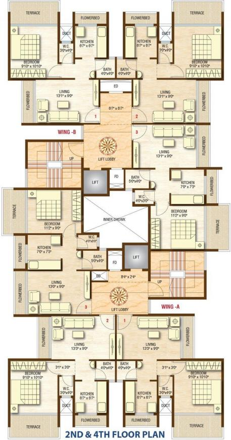 Project Image of 177.17 - 309.14 Sq.ft 1 RK Apartment for buy in Sarovar