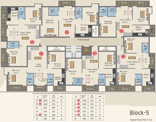 Project Image of 821.0 - 1187.0 Sq.ft 2 BHK Apartment for buy in Harini Gokulam