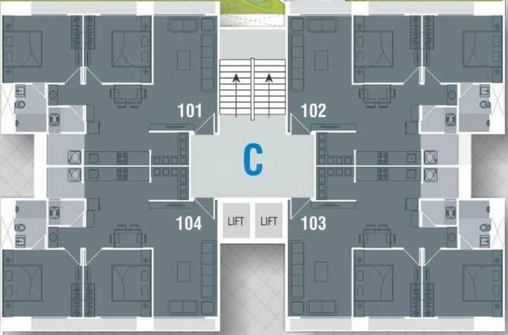 Project Image of 1314.0 - 1980.0 Sq.ft 2 BHK Apartment for buy in  Saamarth Heaven 4