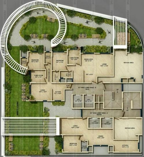 Project Image of 469.74 - 506.12 Sq.ft 1.5 BHK Apartment for buy in Alamdar Al Fatema Heights