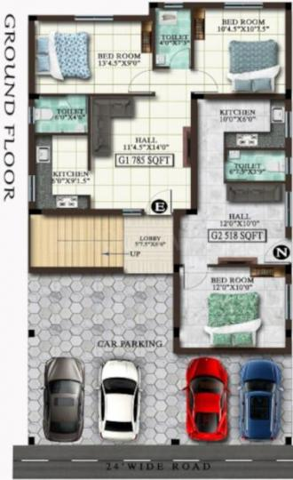 Project Image of 408.0 - 652.0 Sq.ft 1 BHK Apartment for buy in MP Wenda