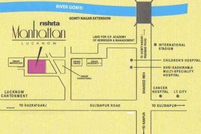 Gallery Cover Image of 1611 Sq.ft 3 BHK Apartment for buy in Rishita Manhattan, Arjunganj for 6900000