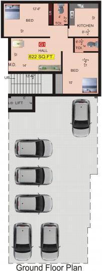 Project Image of 822.0 - 1252.0 Sq.ft 2 BHK Apartment for buy in VGK Aditi