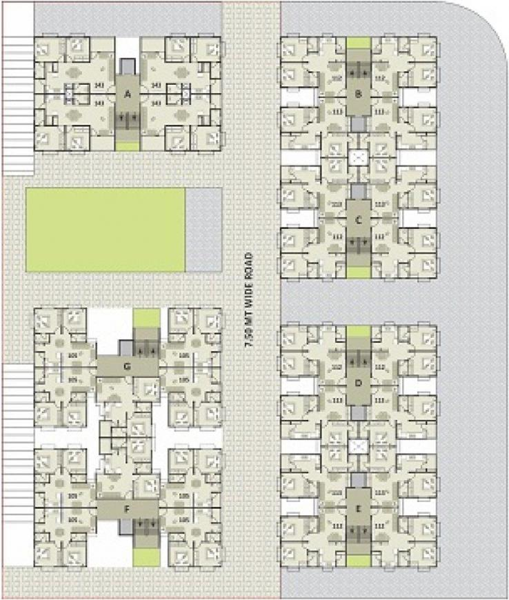 Project Image of 542.0 - 713.0 Sq.ft 2 BHK Apartment for buy in Soham Sanidhya