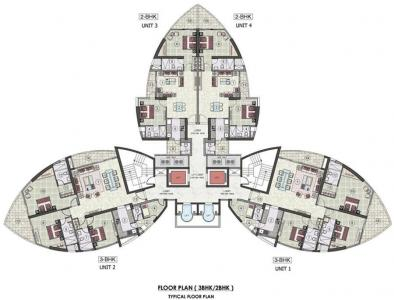 Project Image of 1448.0 - 2906.0 Sq.ft 2 BHK Apartment for buy in Jaypee Greens Tiara Tower
