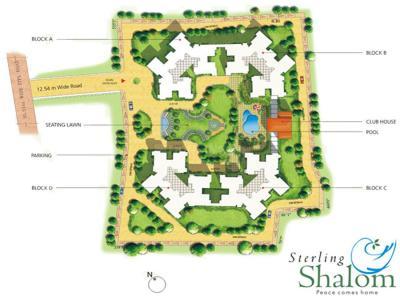 स्टर्लिंग शालोम में खरीदने के लिए 1375.0 - 1850.0 Sq.ft 2 BHK अपार्टमेंट प्रोजेक्ट  की तस्वीर