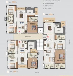 Project Image of 1794 - 2216 Sq.ft 3 BHK Apartment for buy in Doyen Kirans Doyan Crest