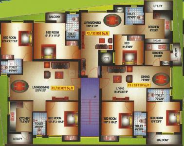 Project Image of 810 - 876 Sq.ft 2 BHK Apartment for buy in Pranav Constructions Casa Green