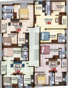 Project Image of 670.0 - 1215.0 Sq.ft 2 BHK Apartment for buy in Avittam Sundarar