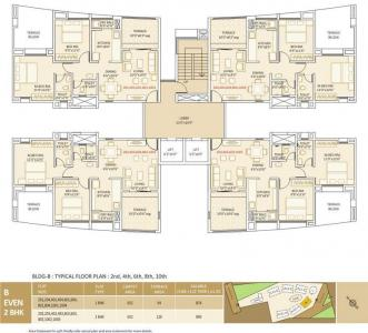 Project Image of 888.0 - 1252.0 Sq.ft 2 BHK Apartment for buy in SRK Ovalnest