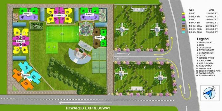 Project Image of 1150.0 - 2950.0 Sq.ft 2 BHK Apartment for buy in Shantiniketan Prakriti