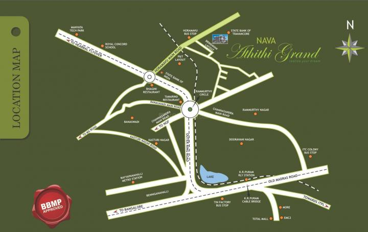 Project Image of 1000.0 - 1365.0 Sq.ft 2 BHK Apartment for buy in Navajyothi Athithi Grand