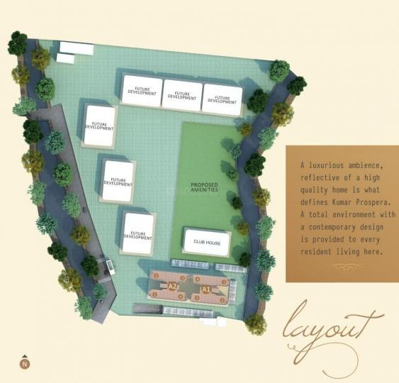 Project Image of 678.13 - 1101.15 Sq.ft 2 BHK Apartment for buy in Kumar Prospera A1 And A2