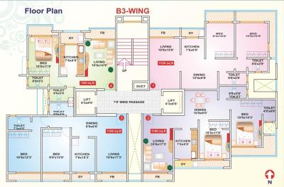 Project Image of 689.0 - 700.0 Sq.ft 2 BHK Apartment for buy in Siddhivinayak Divyam Heights Wing B1 And B2