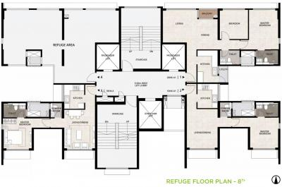 Project Image of 651.0 - 719.0 Sq.ft 2 BHK Apartment for buy in Mahindra Roots