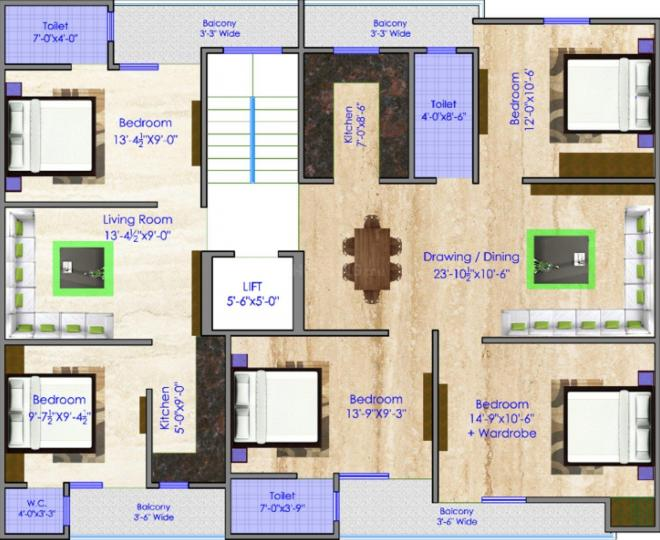 Project Image of 420.0 - 1200.0 Sq.ft 1 BHK Apartment for buy in Grover Luxury Homes