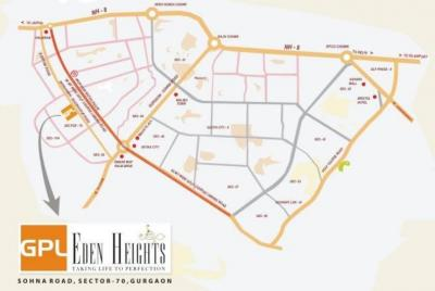 Gallery Cover Image of 1510 Sq.ft 2 BHK Apartment for buy in GPL Eden Heights, Sector 70 for 10500000