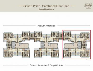 Project Image of 465.0 - 630.0 Sq.ft 1 BHK Apartment for buy in Srishti Pride Phase 1