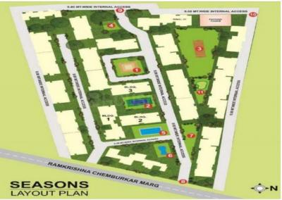Project Image of 960.0 - 2330.0 Sq.ft 2.5 BHK Apartment for buy in Hubtown Seasons I Wing
