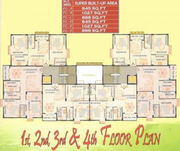 Project Image of 845.0 - 1027.0 Sq.ft 2 BHK Apartment for buy in SPS Vsun Aavas Residency