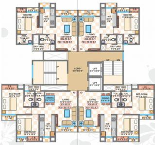 Project Image of 432.0 - 638.0 Sq.ft 1 BHK Apartment for buy in Cosmos Classique Building B2 Meridian