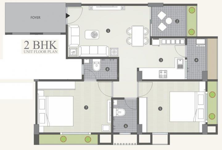 Project Image of 1170.0 - 1278.0 Sq.ft 2 BHK Apartment for buy in Shree Nar Narayan Sahajanand Helenium