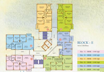 Gallery Cover Image of 1465 Sq.ft 3 BHK Apartment for rent in Ideal Regency, Joka for 25000