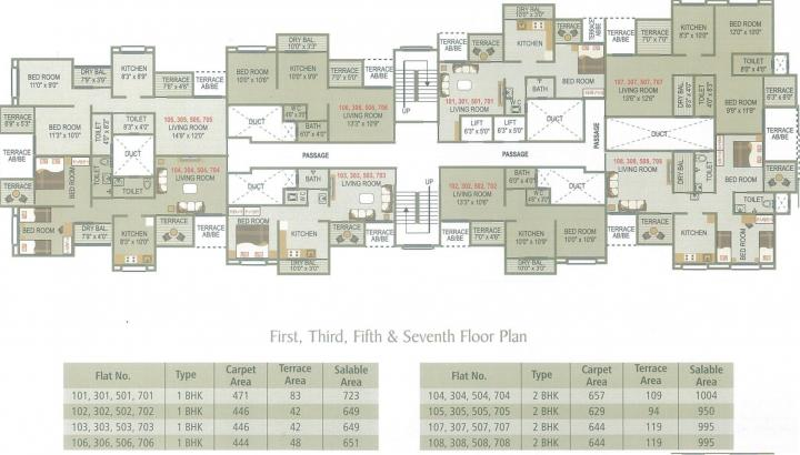 Project Image of 444.0 - 657.0 Sq.ft 1 BHK Apartment for buy in Shivdatta Sai Nisarga