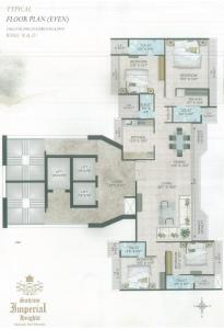 Project Image of 578.0 - 1463.0 Sq.ft 2 BHK Apartment for buy in Satyam Imperial Heights