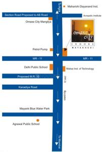 1130 Sq.ft Residential Plot for Sale in Omex City, Indore