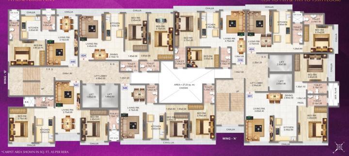 Project Image of 406.0 - 691.0 Sq.ft 1 BHK Apartment for buy in Adityaraj Saphalya