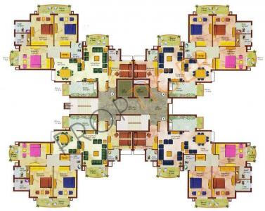 एरॉस वेम्बले प्रीमियम टावर में खरीदने के लिए 1376.0 - 2224.0 Sq.ft 3 BHK अपार्टमेंट प्रोजेक्ट  की तस्वीर