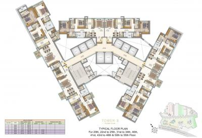 Project Image of 794 - 1338 Sq.ft 2 BHK Apartment for buy in Sheth Auris Serenity Tower 3
