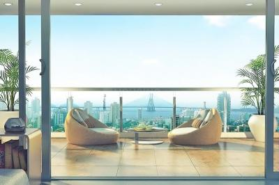Gallery Cover Image of 1540 Sq.ft 3 BHK Apartment for rent in L&T Crescent Bay T5, Parel for 95000