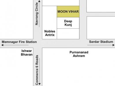Project Image of 0 - 1143.88 Sq.ft 3 BHK Apartment for buy in Sheth Moonvihar Flats