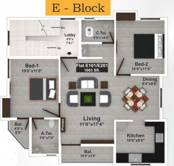 Project Image of 815.0 - 1320.0 Sq.ft 2 BHK Apartment for buy in Saradeuz Acropolis