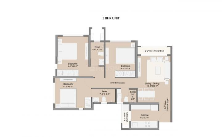 Project Image of 306.13 - 506.23 Sq.ft 1 BHK Apartment for buy in Sunteck MaxxWorld 1 Tivri Naigaon East