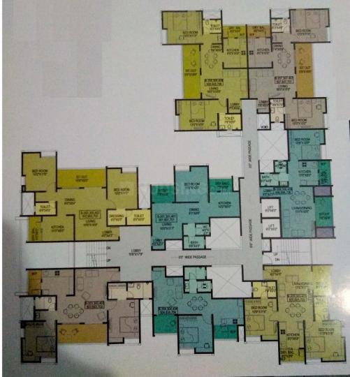 Project Image of 385 - 777 Sq.ft 1 BHK Apartment for buy in F5 Epic Wing C And D