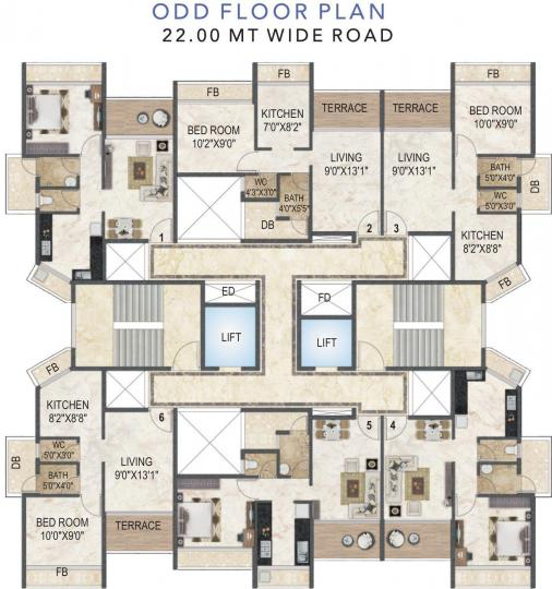 Project Image of 0 - 695.0 Sq.ft 1 BHK Apartment for buy in Akshar Evita