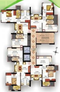 Project Image of 459.0 - 632.0 Sq.ft 1 BHK Apartment for buy in Vaibhavlaxmi Stella Residency