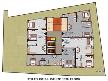 Project Image of 431.0 - 621.0 Sq.ft 1 BHK Apartment for buy in Atlas Royal A