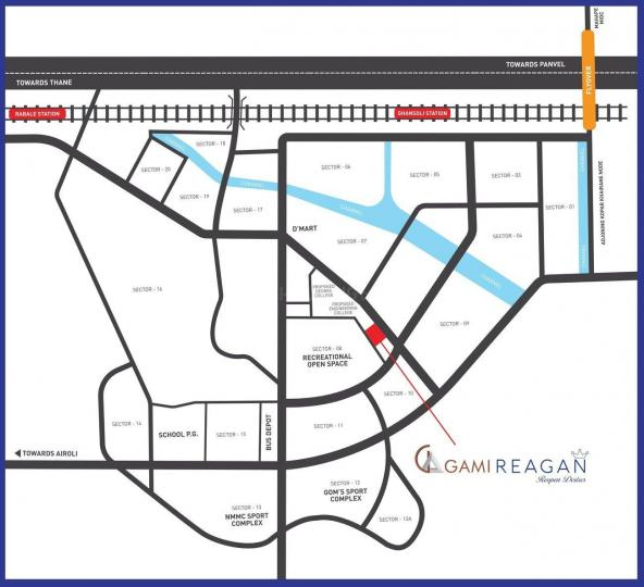 Project Image of 308.71 - 613.54 Sq.ft 1 BHK Apartment for buy in Gami Reagan