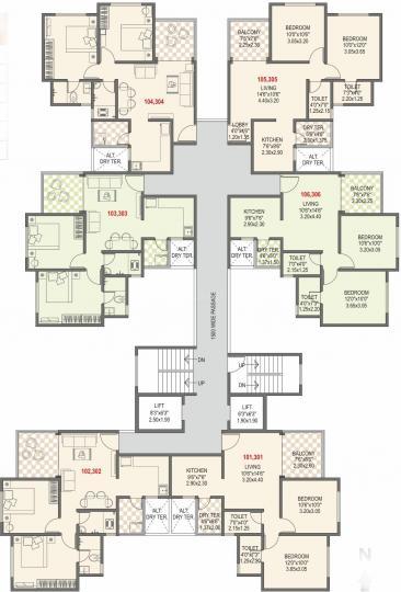 Project Image of 439.49 - 530.23 Sq.ft 2 BHK Apartment for buy in Bhandari Associates Swaraj Phase IV TUV