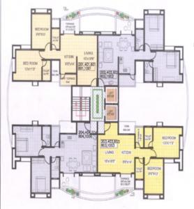 Gallery Cover Image of 1350 Sq.ft 3 BHK Apartment for rent in Shantiniketan Phase 1, Pashan for 32000