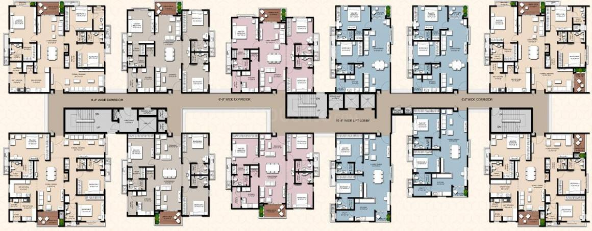 Project Image of 1474.98 - 2594.96 Sq.ft 2 BHK Apartment for buy in Incor Viva City