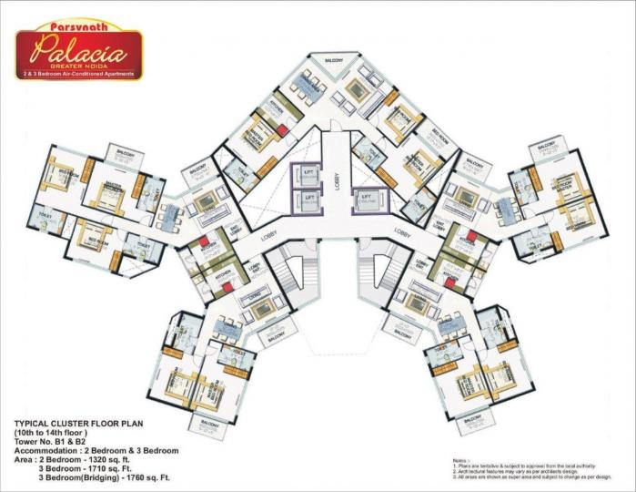 Project Image of 1320.0 - 1835.0 Sq.ft 2 BHK Apartment for buy in Parsvnath Palacia