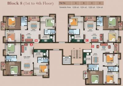 Gallery Cover Image of 1530 Sq.ft 4 BHK Apartment for rent in Magnolia Grand, Chotto Chandpur for 25000